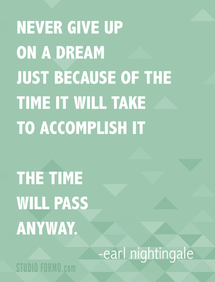 Quotes on Not Giving up on Dreams Quote Never Give up