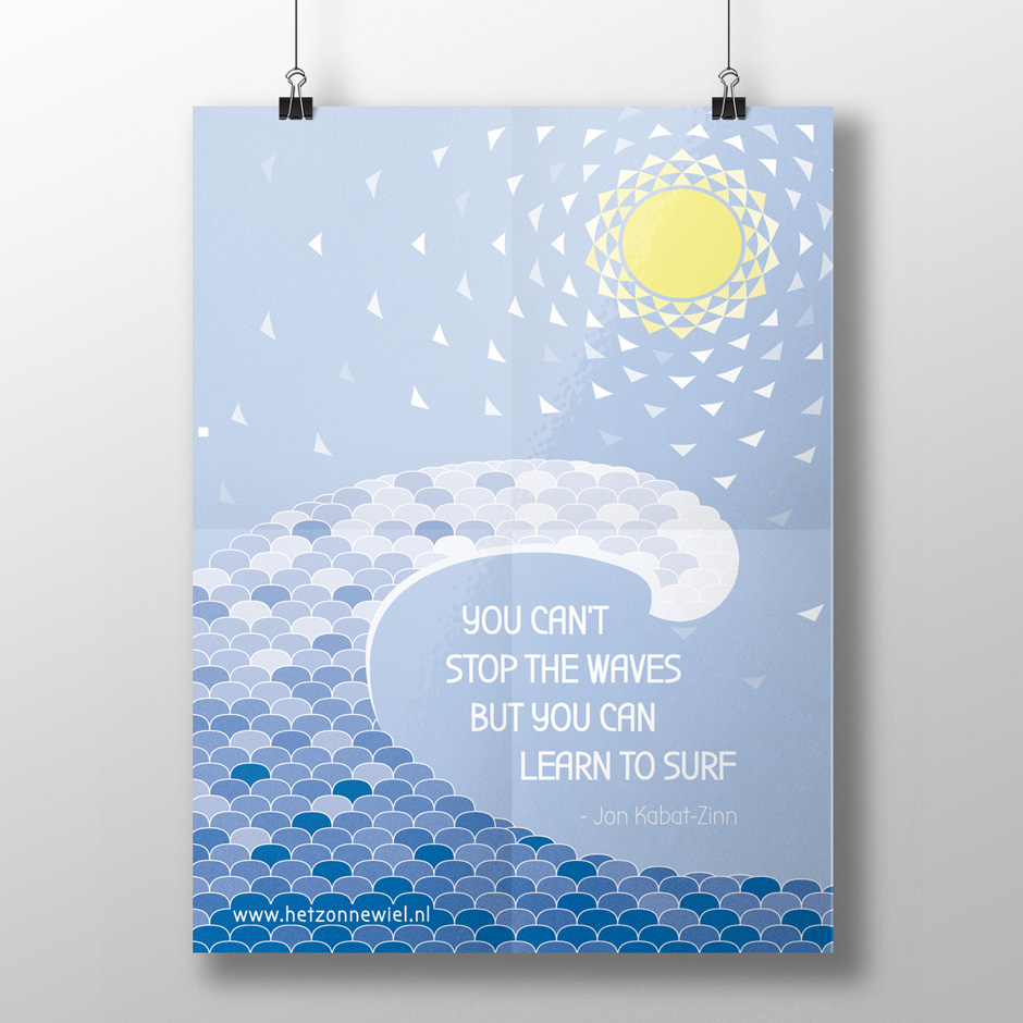 't Zonnewiel Illustration Poster Card Download Quote Jon Kabat-Zinn