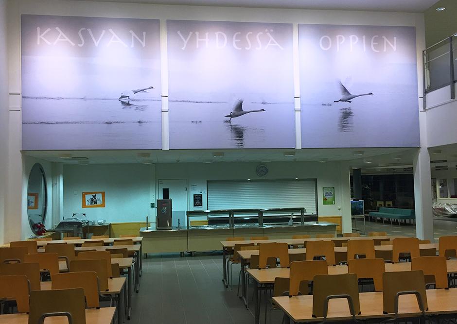 Kempele koulu AKUprintti Kangastuloste alumiinikehyksessä