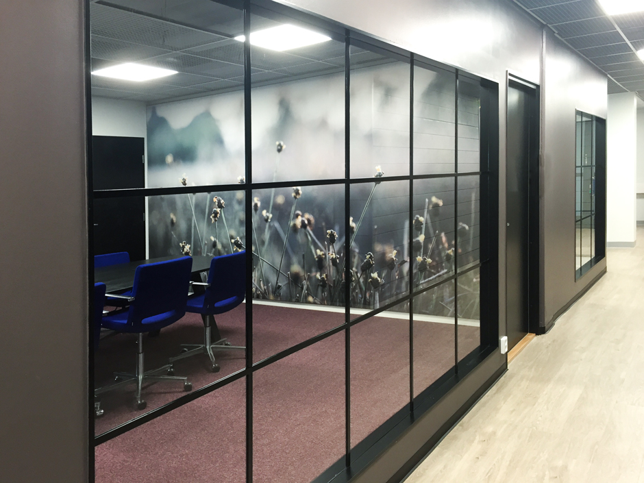 AKUprintti acoustic wall prints for the new office of Nordic